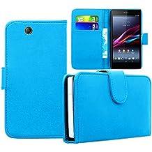 Funda Carcasa cartera Cuero PU para Xperia Sony Z De Ultra XL39H C6802/ LTE C6806 C6833 - AZUL