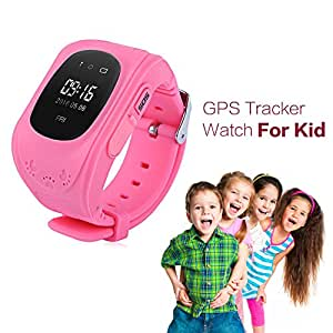 ZTE Grand X Plus Z826 Compatible Children Kids Baby GPS Tracker Satellite Monitor SOS Phone Call Smart Watch Android Q50 by JIKRA