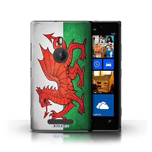 Kobalt® Imprimé Etui / Coque pour Nokia Lumia 925 / Royaume-Uni/Britannique conception / Série Drapeau Pays de Galles/gallois