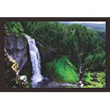 Mad Masters Beautiful Waterfall Countryside 1 Piece Wooden Framed Painting |Wall Art | Home Décor | Painting Art | Unique Design | Attractive Frames