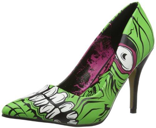 Zombie Stomper (Iron Fist Zombie Stomper Heel 611984 Damen Pumps, Grün (Green), EU 36)