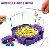 Gioco Pesca Pesci Gioco Musicale Tavolo Pesca Gioco Interattivo con 6 Canna da Pesca e 21 Pesci per Bambini 3 4 5 Anni