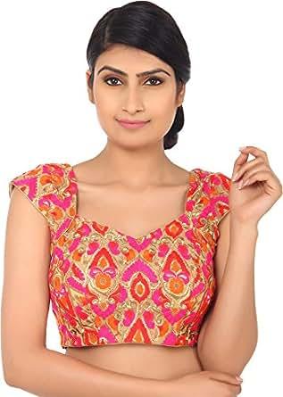 Amodini Multi Colour Gujarat Women's Blouse (BL-1037_38)