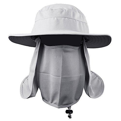 VANKER Senderismo Pesca Sombrero Deportes al aire libre Sol Protección UV  Cara para Mujeres Hombres - 4ff973d666f