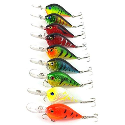 9PCS/lot 9.5cm 11.2 g Crankbait leurres de pêche 6 # Crochets manivelle appât dur poissons artificielle leurre de pêche wobbler