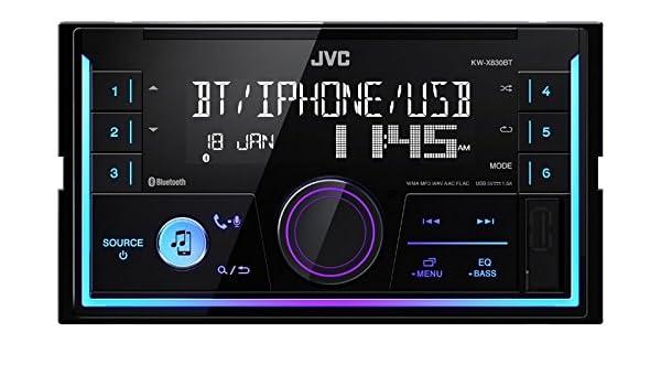 JVC Radio KWX830BT 2 DIN Bluetooth Spotify mit Einbauset f/ür VW Passat B5//3B B5//3BG 1996-2005