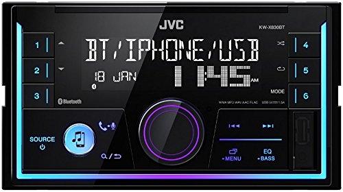 JVC Radio KWX830BT 2 DIN Bluetooth Spotify mit Einbauset für Dodge Nitro (KJ) 2007-2010