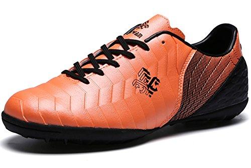 Fussballschuhe Kinder FG/TF Fußballschuhe Jungen Low Top Trainingsschuhe Für Unisex-Kinder: Gr. EU39=Fit Fußlänge 25.0cm, Orangetf