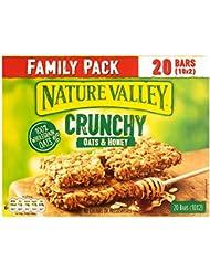 Nature Valley Crunchy Oats & Honey Family Pack Cereal Bars 42g (10 2-bar packs)