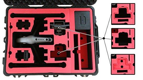 Professioneller Transportkoffer für DJI Inspire 2 - Landing Mode - Platz fuer X4S/X5S - 20 Batterien, Objektive, Deckel im Peli 1630 Koffer von MC-CASES - 7