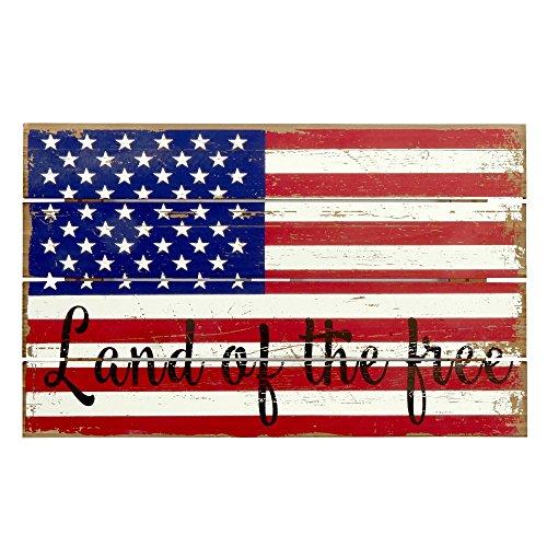 MH Holz-Patriot Patriot Wandbild aus Holz, Dekoration, freie 4. Juli-Memorial Day Dekoration Patriot Geschenk