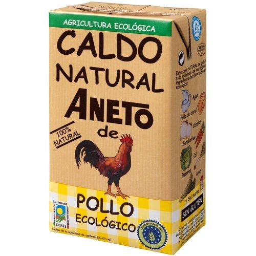 Flamme Pak (Aneto Caldo Natural de Pollo - Hühnerbrühe Ohne Zusätze BIO, 1er Pack (1 x 1 l))