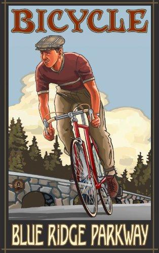 Northwest Art Mall Fahrrad blau Ridge Parkway North Carolina Art Wand von Paul eine lanquist, 11von 43cm