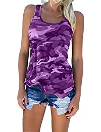 Republe Mujeres Sexy Backless Algodón Camuflaje Crochet Halter Crop Sleeveless Fitness Tees chaleco Camisas Top