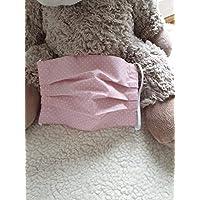 Mund- und Nasen-Maske Punkte rosa Baumwolle