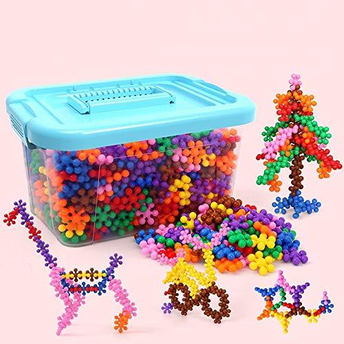 Pinjeer 600pcs / set snowflakes large bambini building blocks giocattoli puzzle 3-6-7-8-10 anni ragazzo 1-2 ragazze assemblati per inserire i blocchi giocattoli educativi