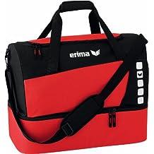 Erima GmbH 723336 Bolsa de Deporte con Compartimento Inferior, Unisex, Rojo/Negro,