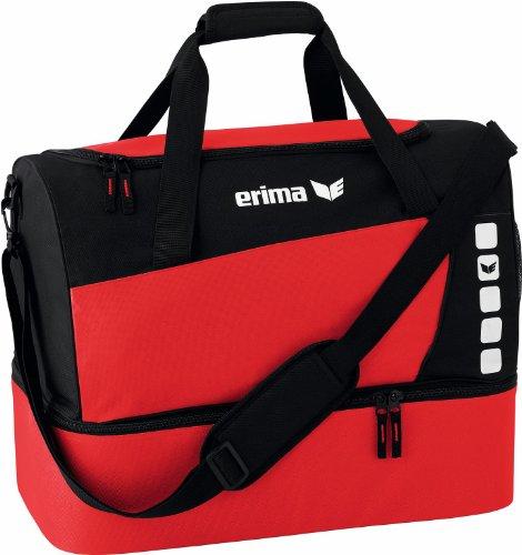 erima Sporttasche mit Bodenfach, Rot/Schwarz, L, 76 Liter, 723336
