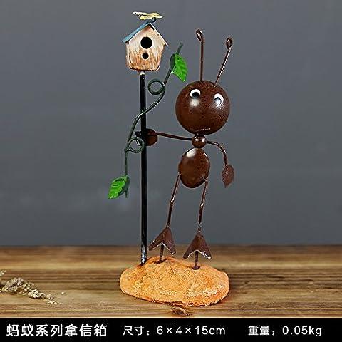 Kreative Mini Bügeleisen ameisen Ornamente hübsche Dekorationen Möbel tv-Schrank eingerichtet, Mailbox