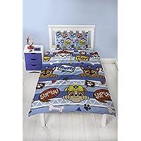 Paw Patrol Peek Boys Single Duvet Cover   Reversible Two Sided Design   Kids Bedding Set Includes Matching Pillow Case
