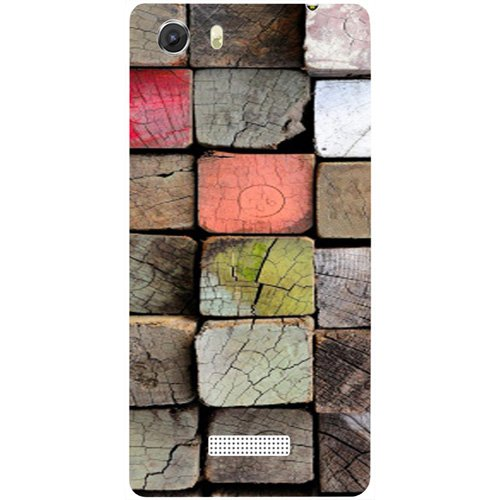 Casotec Wood Lumber Paint Design Hard Back Case Cover for Micromax Canvas Unite 3 Q372