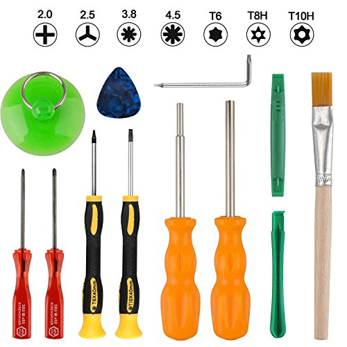 Thlevel Nintendo Schraubendreher Set Tri Wing Werkzeug Set Reparatur Tools Kit für Nintendo New 3DS und Nintendo Wii / NES / SNES / DS Lite / GBA / Gamecube, Sicherheits Schraubendreher Gaming Bit Set - Nintendo-ds-tool-kit