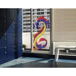 Vinilo de ventana No.342 Dragon of Fear, Dimensione:200cm x 122cm