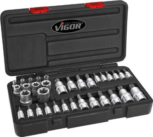 Vigor V1781 - Set chiavi a tubo Torx