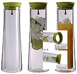 """'Azione: 1x 850ml """"a doppia parete caraffa per acqua con Automatico di chiusura e Funzione di versamento Quickstop, mantiene fredda più freddo e caldo più caldo a 360°, Caraffa per acqua, succo, tè, tè freddo, latte, Limo, vino o anche caldo bevande come ad esempio caffè di Feelino"""