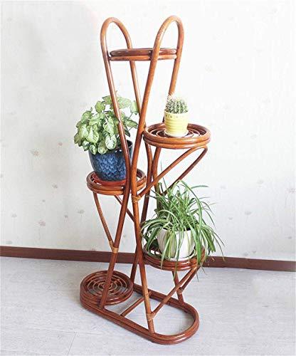 IU Desert Rose Étagère de balcon Support de fleur d'étagère de pot de fleur de rotin de supports de fleur de rotin rural de support (couleur: A, taille: 92CM) (Couleur : A, Taille : 130CM)