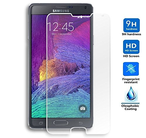 Protector de Pantalla para Samsung Galaxy Note 4 Cristal Vidrio Templado Premium,...