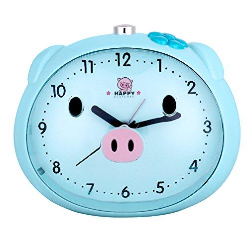 Pingenaneer Wecker Stille Glockenwecker Analog Quarzwecker Klassisch Tischuhren mit Nachtlicht , Lauter Alarm , Ohne Ticken , Batteriebetrieben …