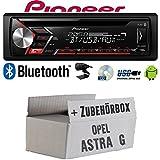 Opel Astra G - Autoradio Radio Pioneer DEH-S3000BT - Bluetooth | CD | MP3 | USB | Android Einbauzubehör - Einbauset