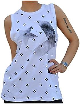 Converse Star Chevron Camisetas para Mujer Blanco 6033A03