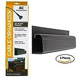 SimpleCord Kit de administración de cubierta para cable para escritorios, oficinas y cocinas Pack de 5 Negro