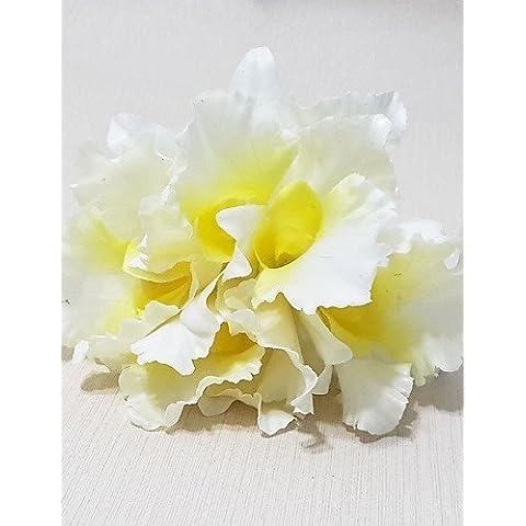 flores artificiales, pu ramo cattleya , white