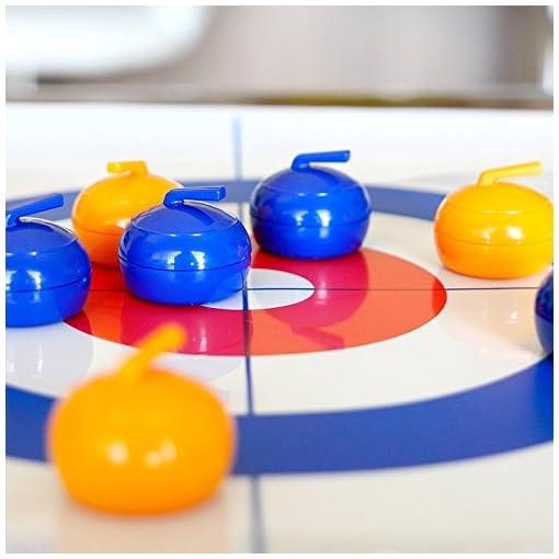 Elite-Sportz-Curling-Tabletop-Tischspiel-fr-die-ganze-Familie-Spa-fr-Kinder-und-Erwachsene