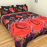 SurprizeMe 3D Print Red Rose Double Beds...