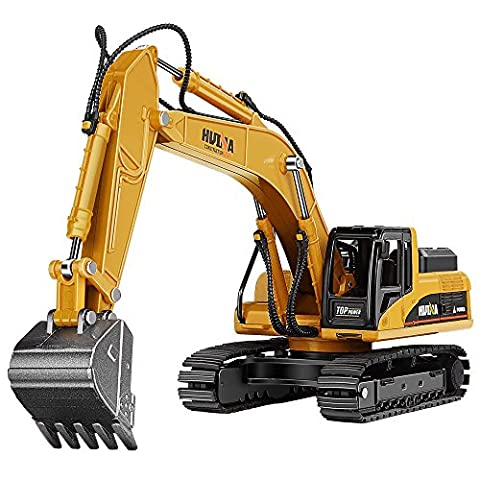 AUKWING Alloy Tracked Excavator Model Metal Engineering Vehicle Car Collection Children Toy