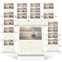 Fotocenter Calendarios Personalizados sobremesa Espiral 15 x 21 cm DE 14 páginas - Imprime tu Pack DE 20 calendarios idénticos.