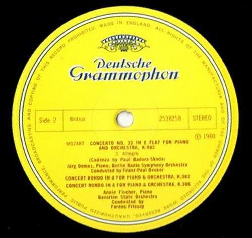 Mozart: Klavierkonzert Nr. 22 Es-dur KV 482 - Piano Concerto No. 22 in E flat Major K 482 / Konzertrondos KV 382 und 386 - Concert Rondos K 382 and 386 [Vinyl LP record] [Schallplatte] -