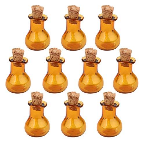 Bottiglie Di Sughero 10 Vasetti Di Vetro Piano Di Base Flaconcino Da Augurando A Bottiglia Fai Da Te Ciondoli Caffšš