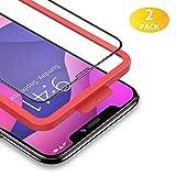 BANNIO Vetro Temperato per iPhone 11 PRO Max/XS Max,2 Pezzi Curva 3D Full Screen Pellicola Protettiva per iPhone 11 PRO Max/XS Max 6,5 Pouces,Copertura Totale Protezione Schermo,Nero