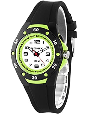 Analoge Damen KInder XONIX Armbanduhr mit Licht wasserfest bis 100m nickelfrei, XAWV82/7
