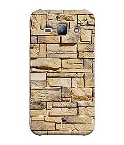 PrintVisa Designer Back Case Cover for Samsung Galaxy J1 (2015) :: Samsung Galaxy J1 4G (2015) :: Samsung Galaxy J1 4G Duos :: Samsung Galaxy J1 J100F J100Fn J100H J100H/Dd J100H/Ds J100M J100Mu (Sober Executive Blocks Tiles Stones )