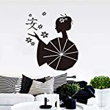 ziweipp Stickers Asie Japonais Geishas Zen Vinyle Sticker Mural Papier Peint Art...