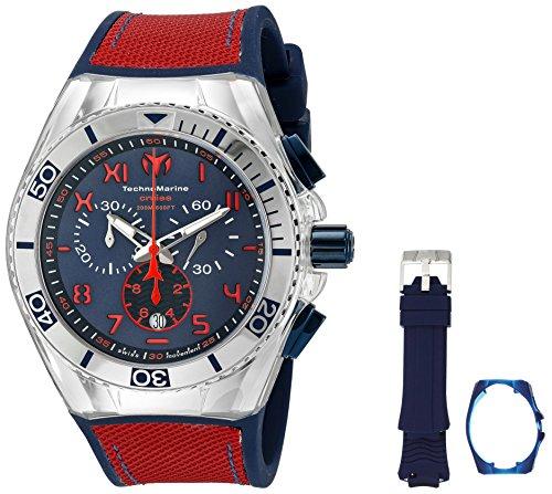 TechnoMarine TM-115071 Orologio da Polso, Display Cronografo, Uomo, Bracciale Silicone, Blu
