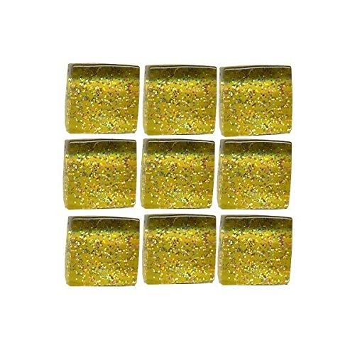 MosaixPro Lot de 215 Paillettes carrées en Verre Doré 10 x 10 x 4 mm 200 g