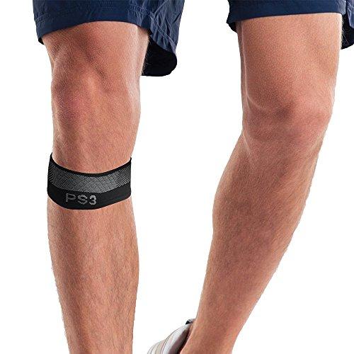 Orthosleeve® PS3 Patellasehnen- Kniegurt| Schwarz Größe L | Exklusive Kompressionstechnologie® mit 3 Zonen | Schmerzlinderung bei Springerknie, Schwellung & Arthritis, lockerer Kniescheibe| Leicht | Regt die Durchblutung an