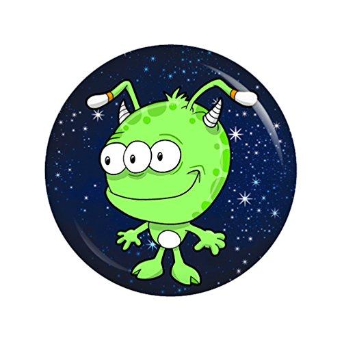 Preisvergleich Produktbild Kiwikatze® Kleine Freunde - Weltraum Dreiauge 37mm Button Ansteckbutton Geschenk Mitbringsel